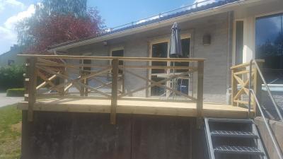 Tillbyggnad altan